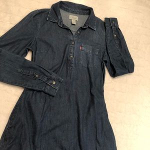 LEVI'S long sleeve denim dress